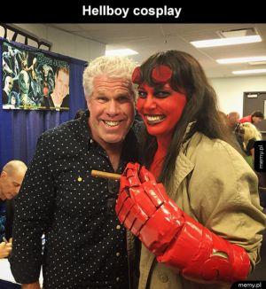 Ciekawy cosplay Hellboya