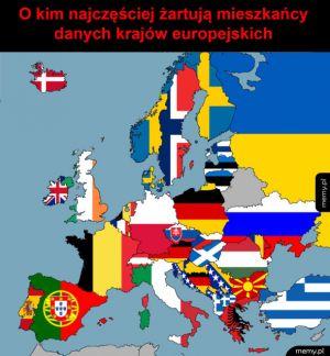 Z kogo sobie śmieszkują w Europie