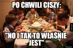 Rozmowy przy stole w polskich domach