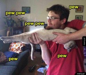 Uwaga bo strzelam kotełem