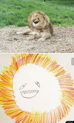 Tak wygląda lew według 6-latka :D