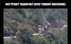 Transport łopat turbiny wiatrowej
