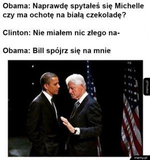 Rozmowa Obamy z Clintonem