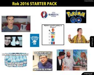Rok 2016 starter pack