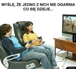 Dwóch graczy w GTA