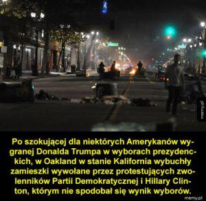 Demokraci protestują po wyborach